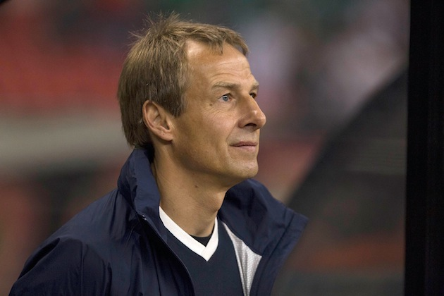Jurgen Klinsmann is content. (Getty)