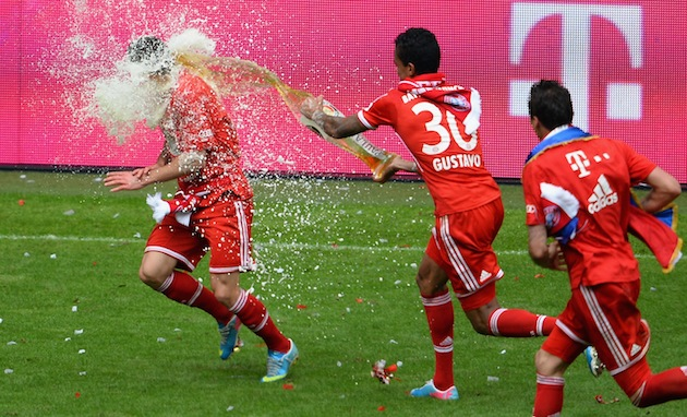 Ribery gets nailed. (Getty)