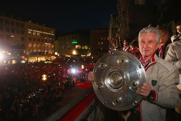 Heynckes readies the trophy in case Muller goes crazy again. (Getty)