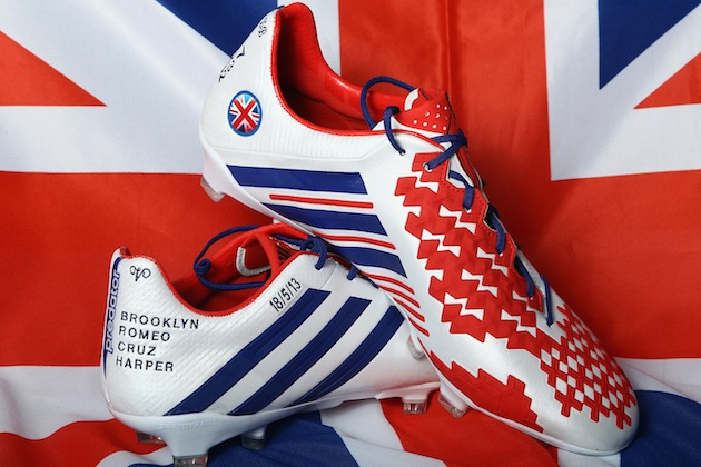 Beckham's personally designed final pair of boots. (Getty)
