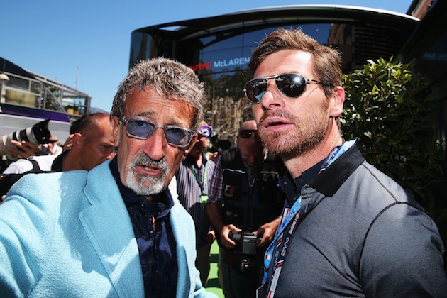 Villas-Boas (right) at the Monaco Grand Prix. (Getty)