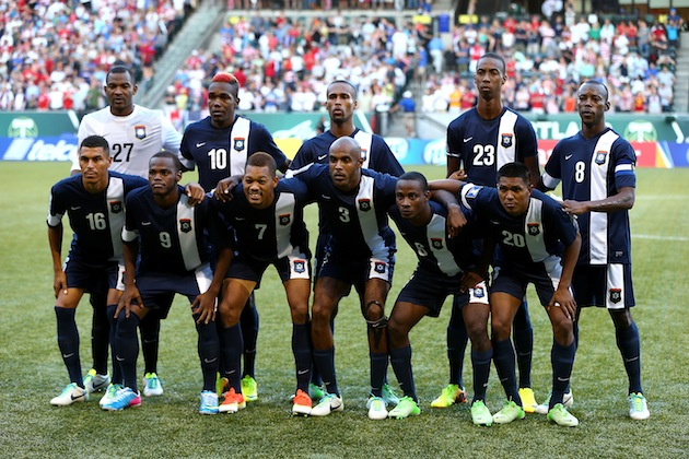 Belize's starting XI for the match. (Getty)