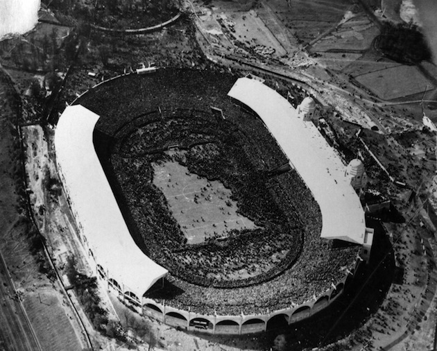An aerial view of the stadium. (Getty)