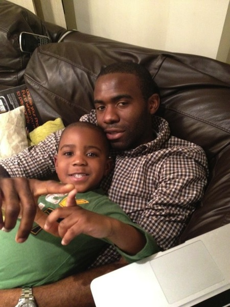 Muamba with his son Joshua in January. (@fmuamba)