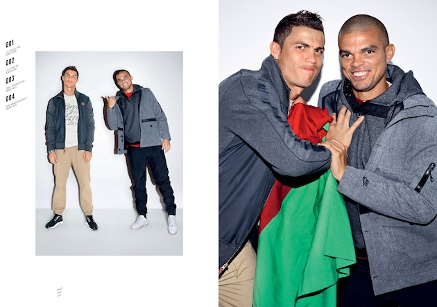 Pepe smiles, comfortable in the knowledge that he could stomp on Cristiano's hand at any moment. (Nike)