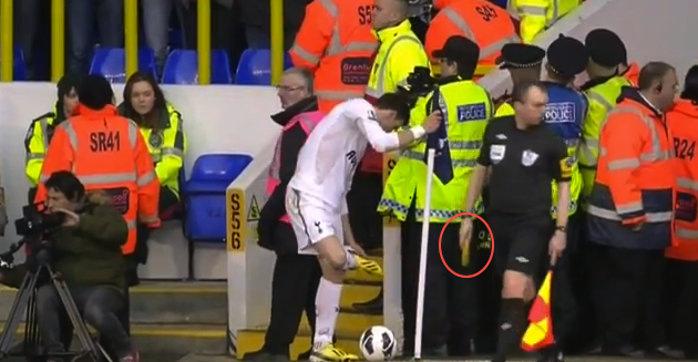 An Arsenal fan threw a banana at Gareth Bale