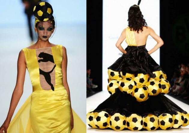 Borussia Dortmund launch new kit with bizarre fashion show