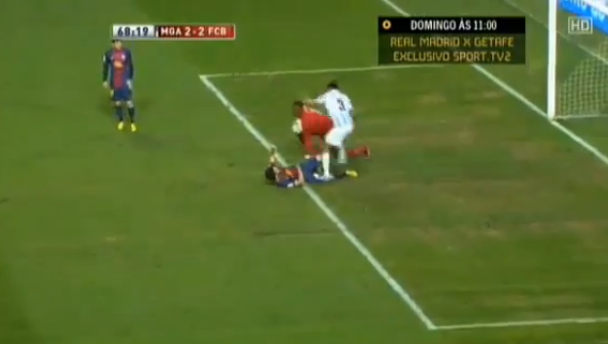 DTotD: Malaga's Weligton did a dance on Cesc Fabregas' knee