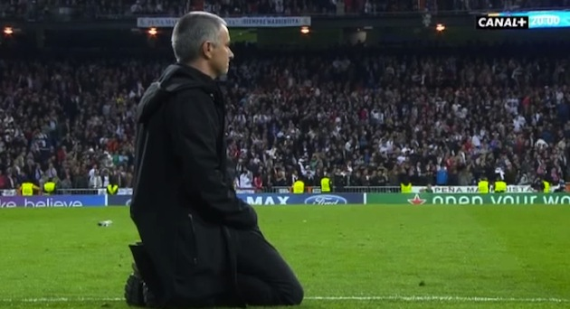 Jose Mourinho has a sad.