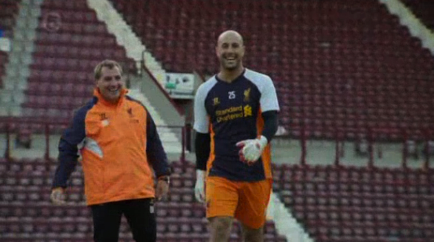 Pepe Reina winning money for more head razors.