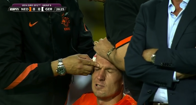 There are a lot of people who would like to do that to Arjen Robben.
