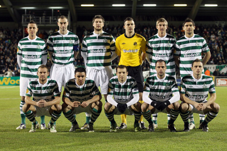 One of these Shamrock Rovers players is thinking about taking a leak. Try to guess which one. (Getty)