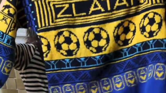 An American artist made a Zlatan Ibrahimovic sweater