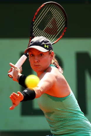 Bethanie Mattek-Sands upset No. 12 Sabine Lisicki on Monday. (Getty Images)