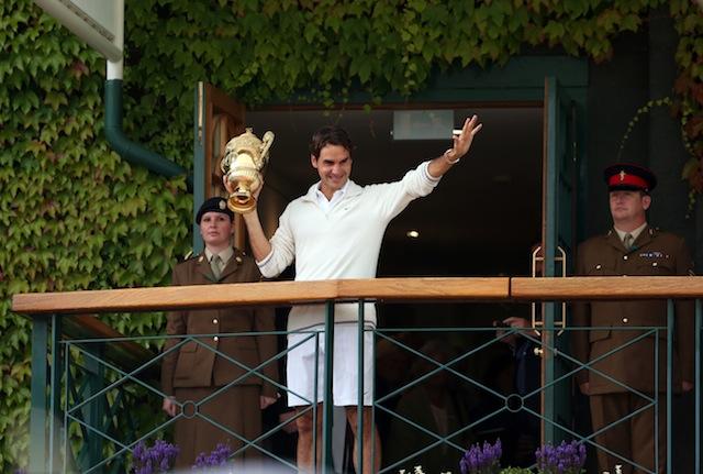 the master roger federer wins seventh wimbledon  photo