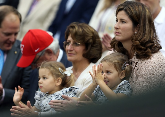 Federer's daughters were six months old when their dad last won a major (Getty Images)