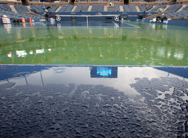 The rain keeps falling at the U.S. Open. — Getty Images