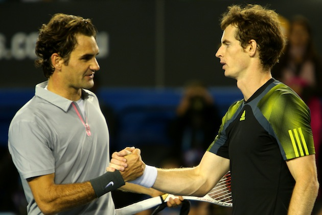 Roger Federer, Andy Murray — Getty Images
