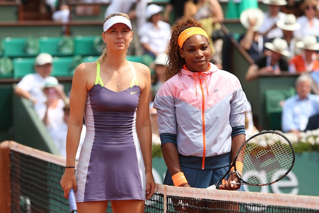 Maria Sharapova, Serena Williams — Getty Images
