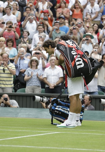 """Fabio, bow at the waist, then shank your backhands. Excellent."" (AP)"