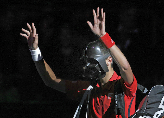 "Novak ""Darth Vader"" Djokovic. — Associated Press"