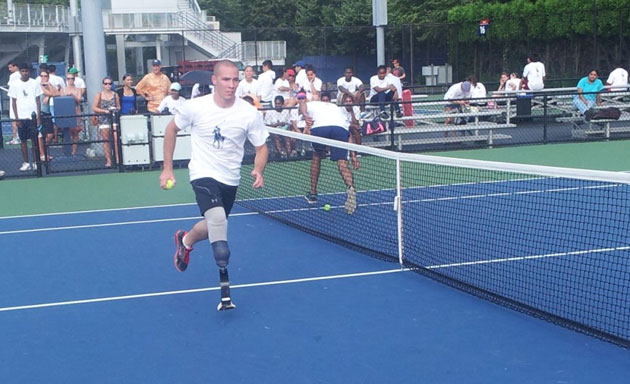 Ryan McIntosh in action. (Via @usopen)