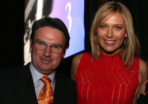 Jimmy Connors, Maria Sharapova — Getty Images