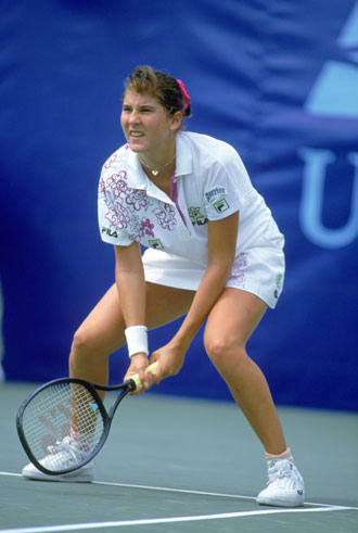 Monica Seles at the 1992 U.S. Open. (Getty Images)