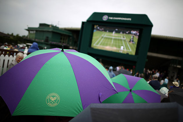 Rain? In England? Well, I never! (Getty Images)