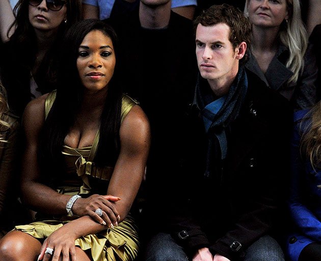 Serena Williams and Andy Murray, looking thrilled at a fashion show. (Getty Images)
