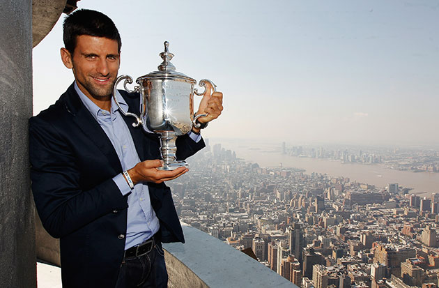 Long way from Belgrade: Novak Djokovic celebrates his US Open win in 2011. (Getty Images)