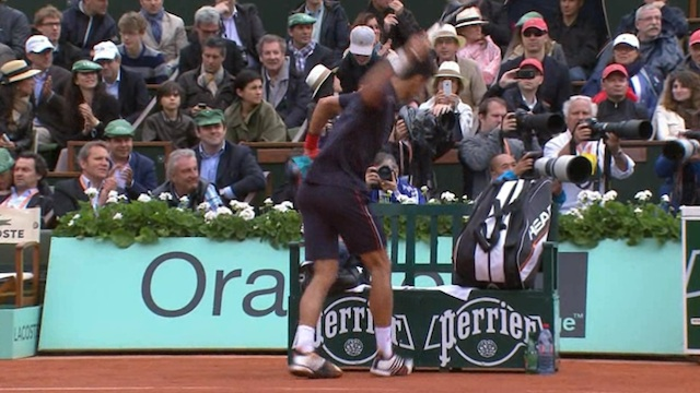 Novak Djokovic takes out French Open frustration on Perrier sign (PHOTOS)