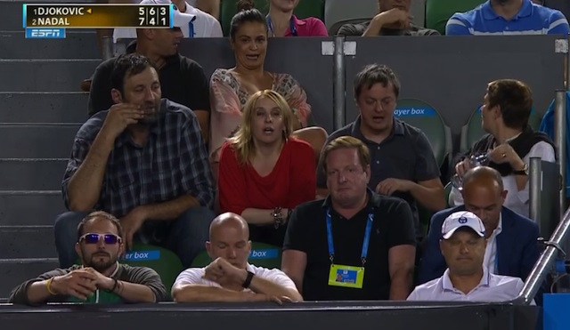Vlade Divac was rooting on Novak Djokovic in Australian Open final