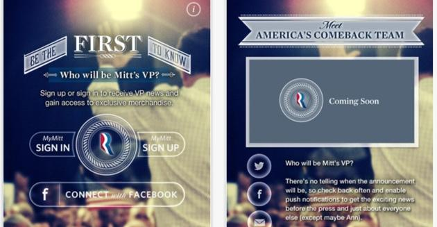 You can be among the first to learn of Romney's VP pick with this iPhone app