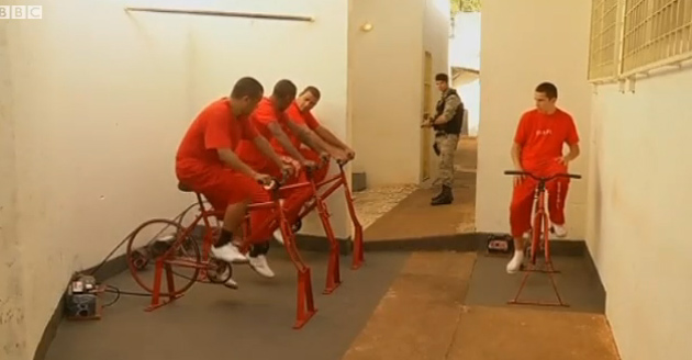 Brazil's new program aims to keep inmates fit and help keep the public safe