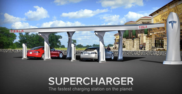 The locations can charge Model S vehicles several times faster at no cost to owners