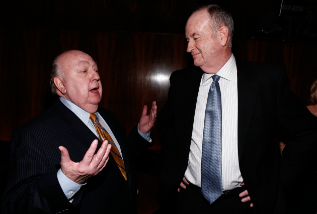 Fox News chief Roger Ailes and Bill O'Reilly (AP/THR)