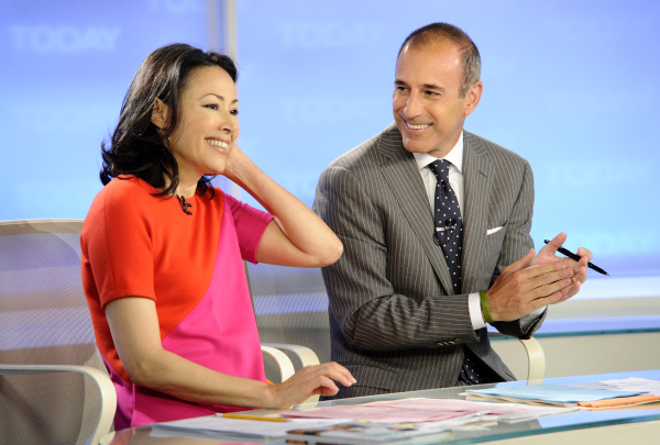 Curry and co-host Matt Lauer (Peter Kramer/AP/NBC)