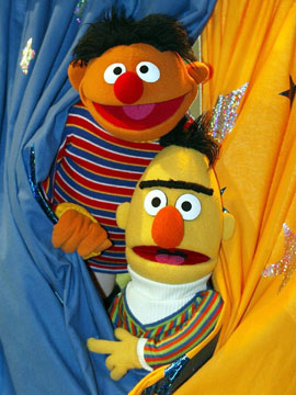 Bert and Ernie: just pals (Christof Stache/AP)