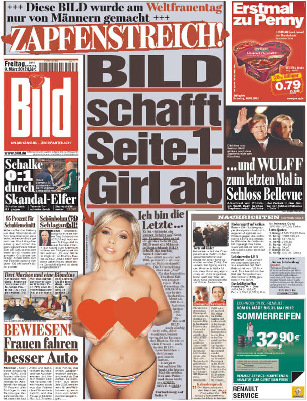 A censored version of Bild's March 9, 2012 cover. (Bild/Yahoo)