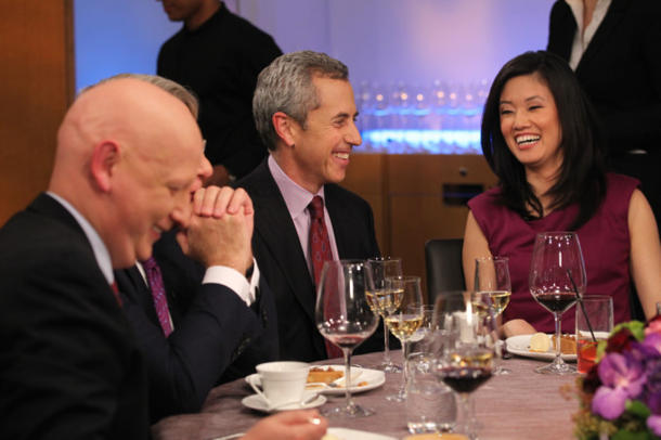 Hedge fund managers Steve Kuhn, Jim Chanos, restauranteur Danny Meyer and host Betty Liu. (Bloomberg TV)