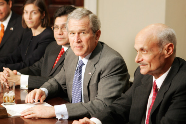 President Bush at a meeting on the Patriot Act in the White House on Jan. 3, 2006. (AP/Ron Edmonds)