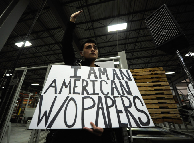 Vargas at the Romney rally in Cedar Rapids on Dec. 8. (Getty/Kevork Djansezian)