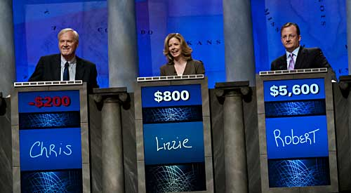 Matthews, O'Leary and Gibbs (Jeopardy/Getty)