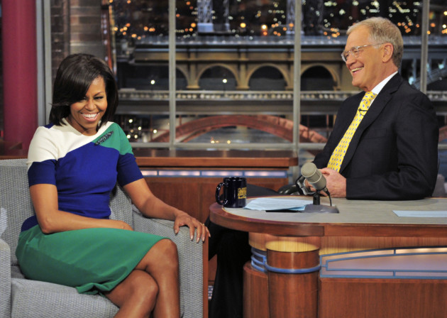 Michelle Obama and David Letterman (Late Show/CBS)