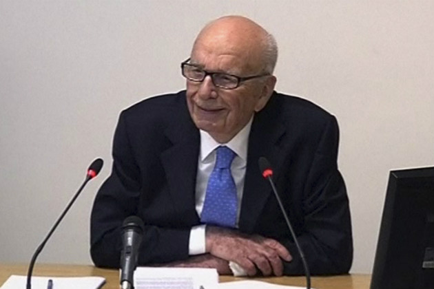 Rupert Murdoch testifies in London, April 25, 2012. (AP/Pool)
