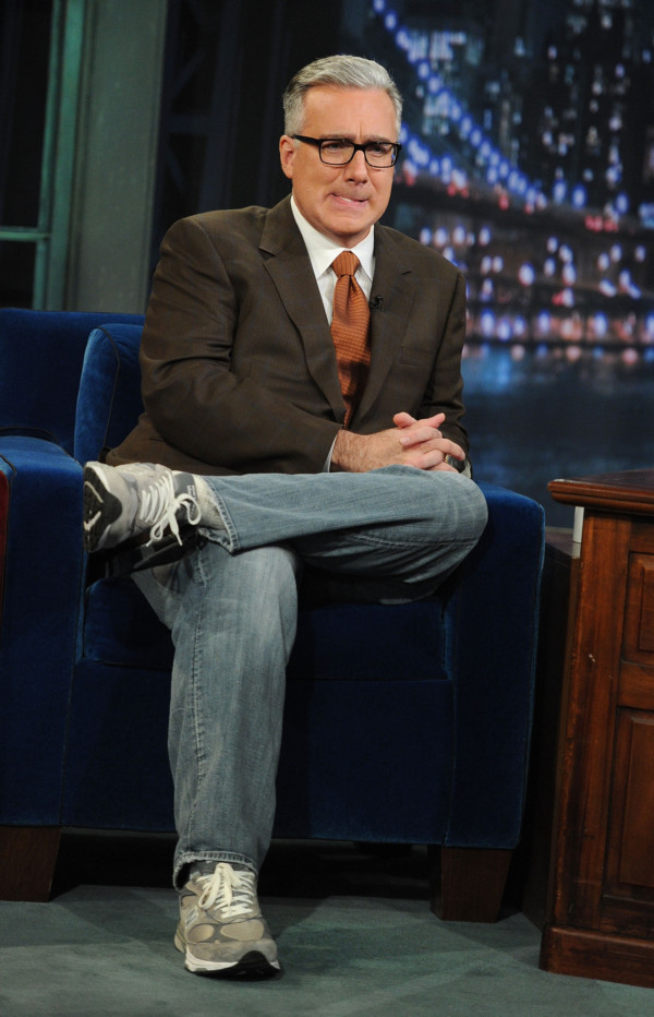 "Olbermann visits ""Late Night With Jimmy Fallon,"" June 2011. (Jason Kempin/Getty)"