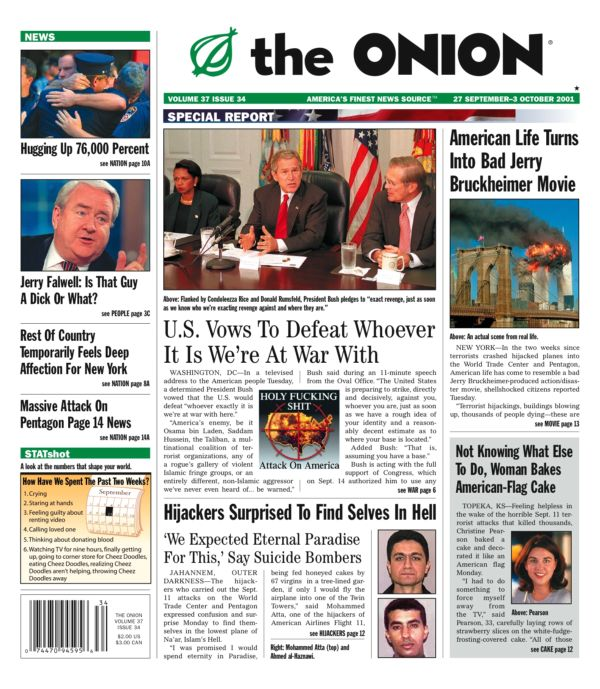 Remembering The Onion's 9/11 issue: 'Everyone thought this would be our last issue in print'