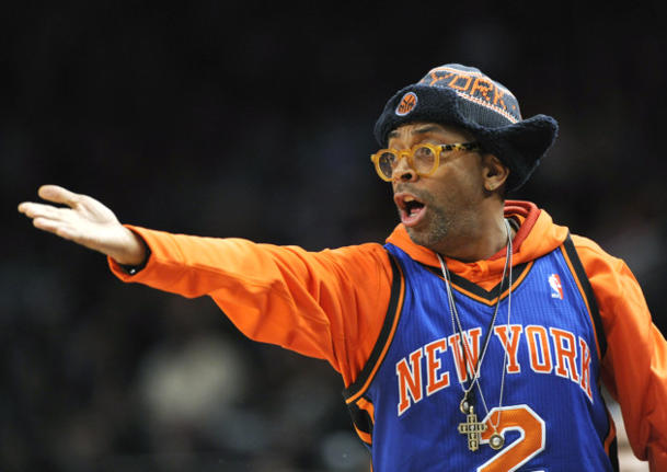 Lee at a Knicks game at Madison Square Garden, Feb. 20, 2012. (Bill Kostroun/AP)