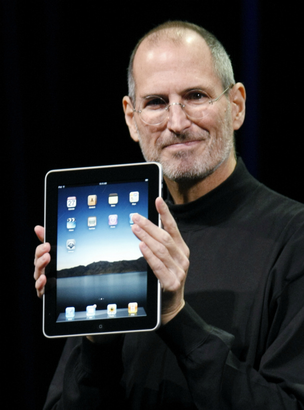 Late Apple chief Steve Jobs announces the launch of the iPad, Jan. 27, 2010. (AP)